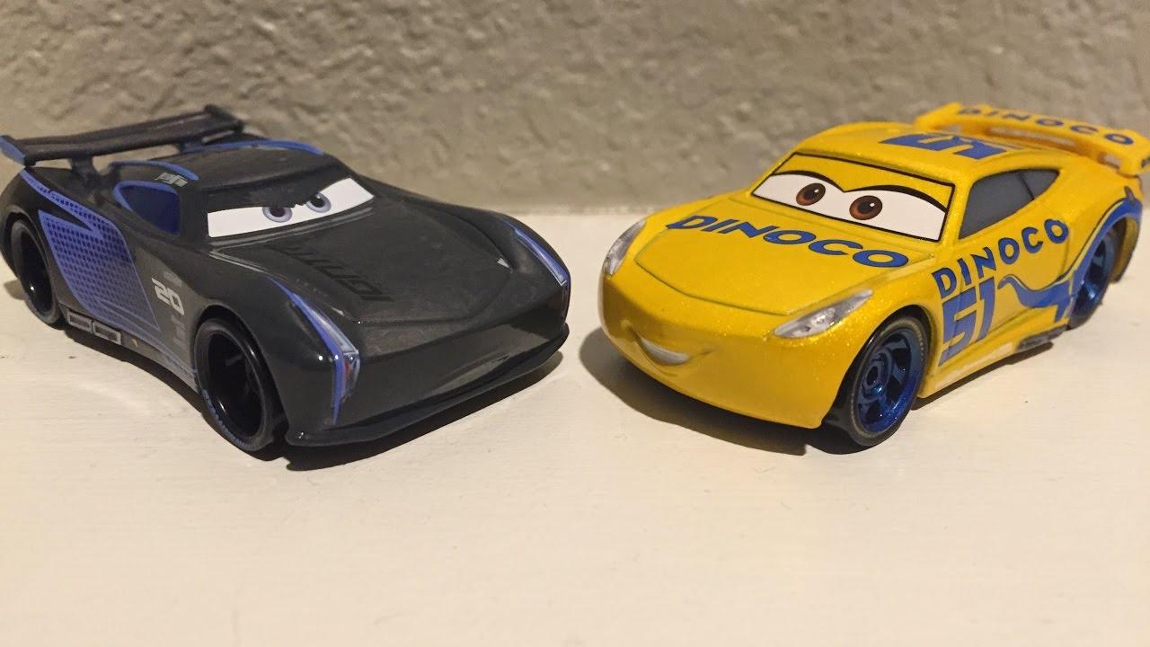 mattel pixar cars 3 jackson storm dinoco cruz ramirez die casts youtube. Black Bedroom Furniture Sets. Home Design Ideas