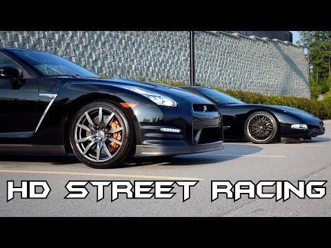 GTR 35 VS H\C C5 Corvette vs boosted GT