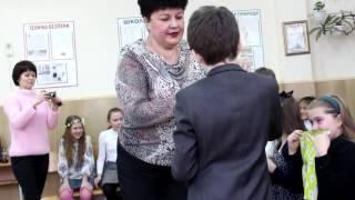Школа 4 марта 2015 - поздравления девочкам 8 марта, конкурсы
