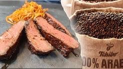 Steak mit Kaffee-Rub   Mori kocht mit Tchibo Entrecôte