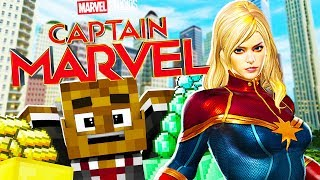CAPTAIN MARVEL GOLD RUSH THE CRAZIEST MINECRAFT MODDED GAMEMODE EVER - Modded Minecraft Minigame
