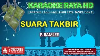 P. Ramlee - Suara Takbir | Karaoke Tanpa Vokal | Minus One | Lirik Video HD