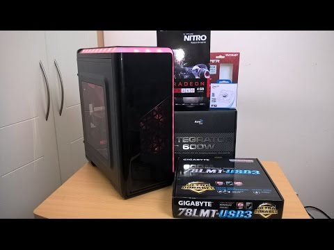 6 Core Gaming PC Timelapse Build - January 2017