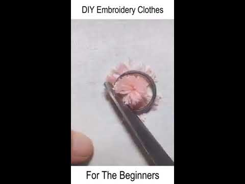 DIY Embroidery Clothes For The Beginners/Amazing Clothe Hack/3 MINUTES DIY