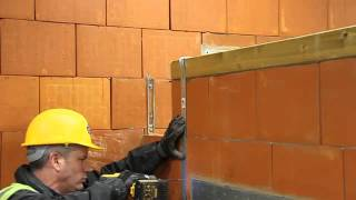 Installation Of Wall Plate And Restraint Straps - Porotherm Uk