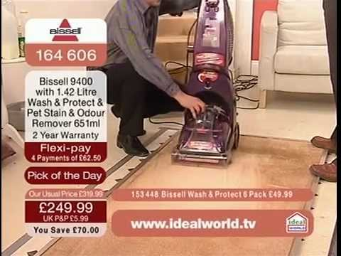 Bissell 9400 Proheat Carpet Washer Demonstration on Ideal World TV Shopping Channel