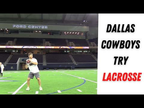 Dallas Cowboys Try Lacrosse | DALLAS RATTLERS INSIDER
