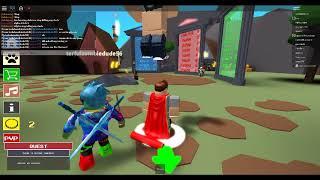 Playing Roblox Knight Simulator!