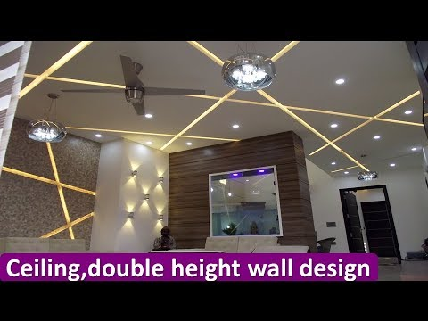Interior Design Ceiling With Double Height Wall Design Temple Design Kitchen Design Youtube