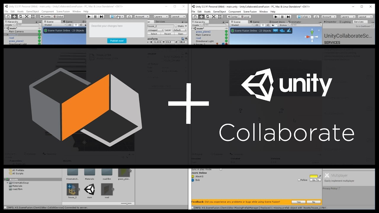 Multi-User Editing with Scene Fusion and Unity Collaborate