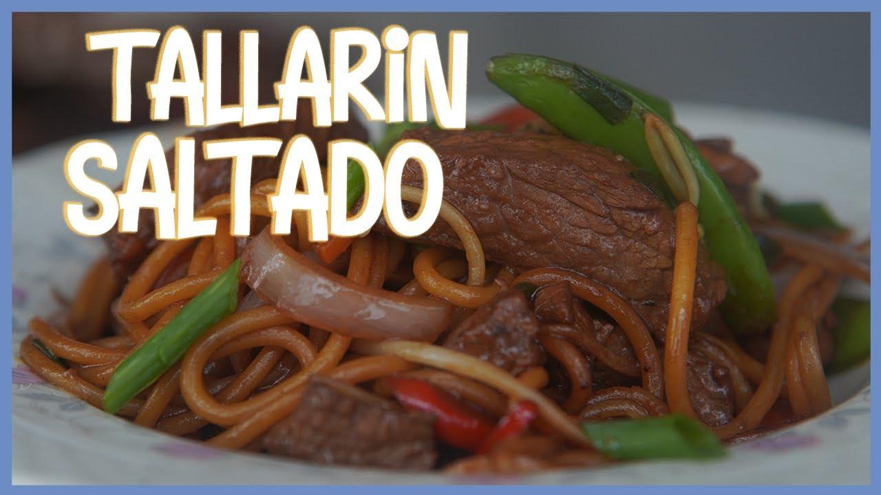 DELICIOSISIMO TALLARIN SALTADO!! CRIOLLO ORIENTAL 10 PUNTOS!