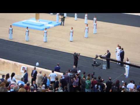ATHENS, GREECE, Olympic flame at Panathenaic Stadium, OLYMPIC GAMES BRAZIL RIO 2016 - (5)(27.4.2016)