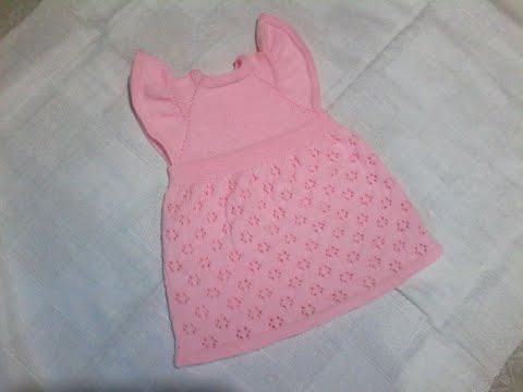 Платье детское вязаное спицами с описанием