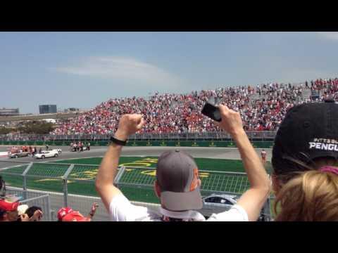 F1 2017 grand prix du Canada depuis (estrade 21 tribune 7 à l'épingle) parade des pilotes