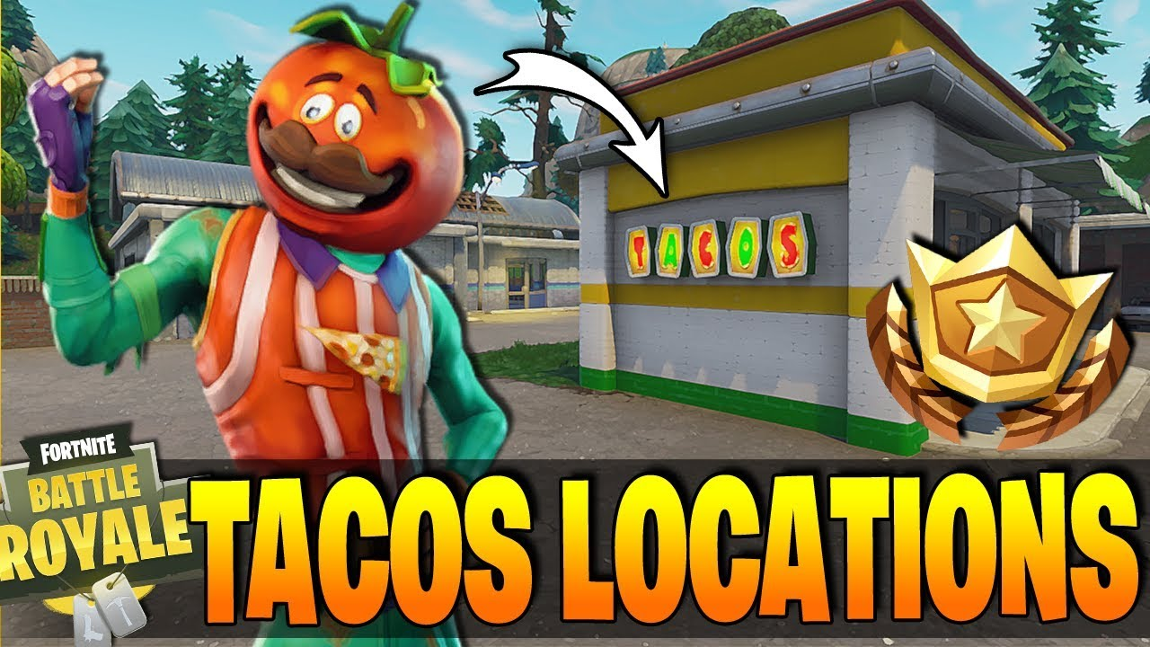 fortnite visit different taco shops in a single match guide locations how to complete easy - fortnite tacos