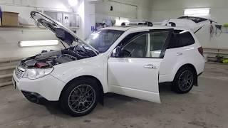 Аудиосистема на Subaru Forester изготовление сабвуферного корпуса Стелс