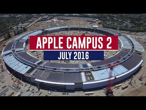 APPLE CAMPUS 2: July 2016 Construction Update 4K