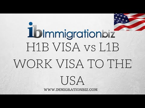L1 VISA vs  H1B VISA for USA