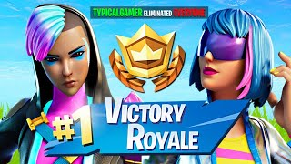 WINNING in RANDOM DUOS!! (Fortnite Season 2)