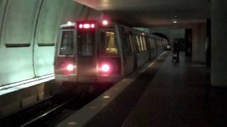 Washington DC Metro Red Line train arriving Bethesda station