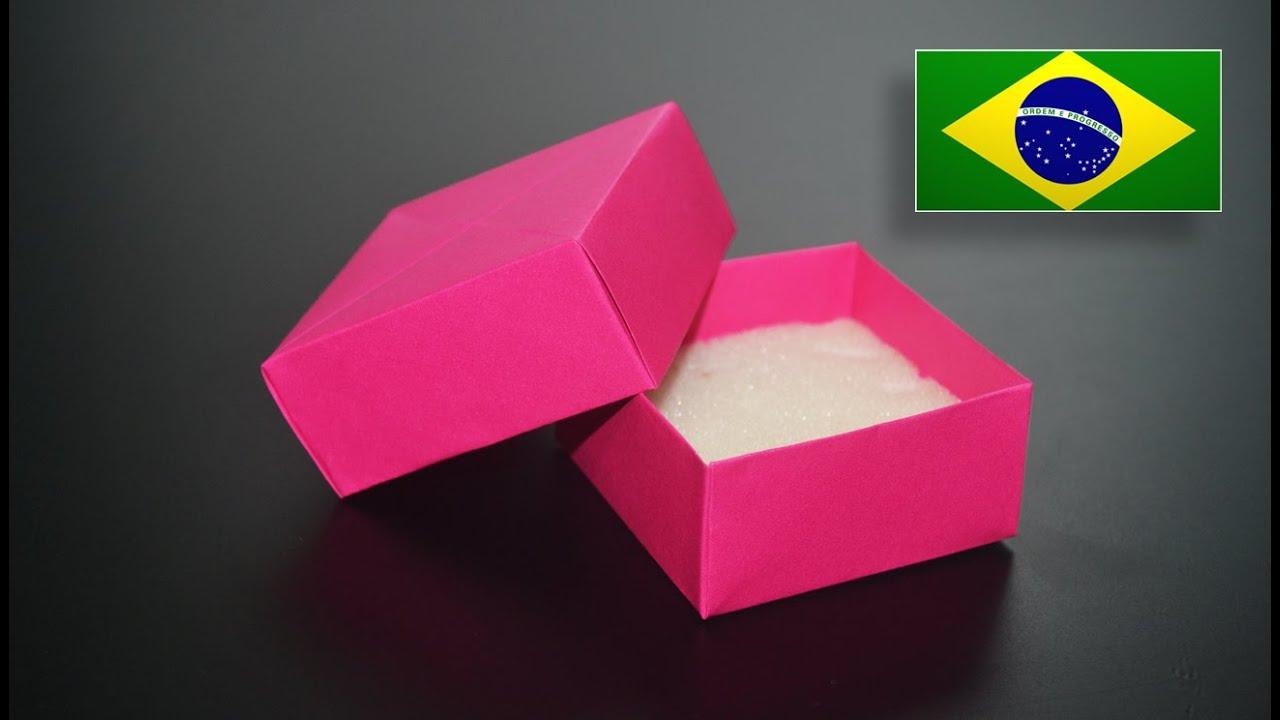 Origami Caixa De Jóias Instruções Em Português Pt Br Youtube