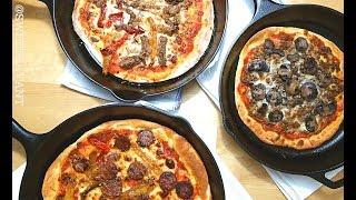 2 ingredient Pizza Dough TASTY Cast Iron Skillet Pizza