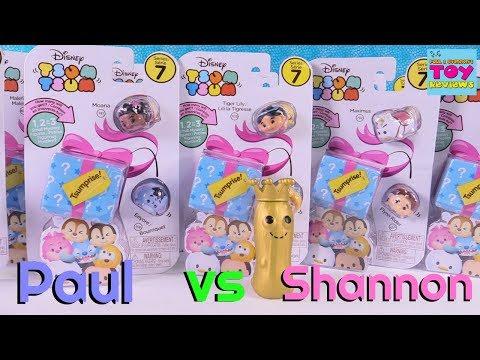 Paul vs Shannon Challenge Disney Tsum Tsum Series 7 Tsumprise Toy Review | PSToyReviews