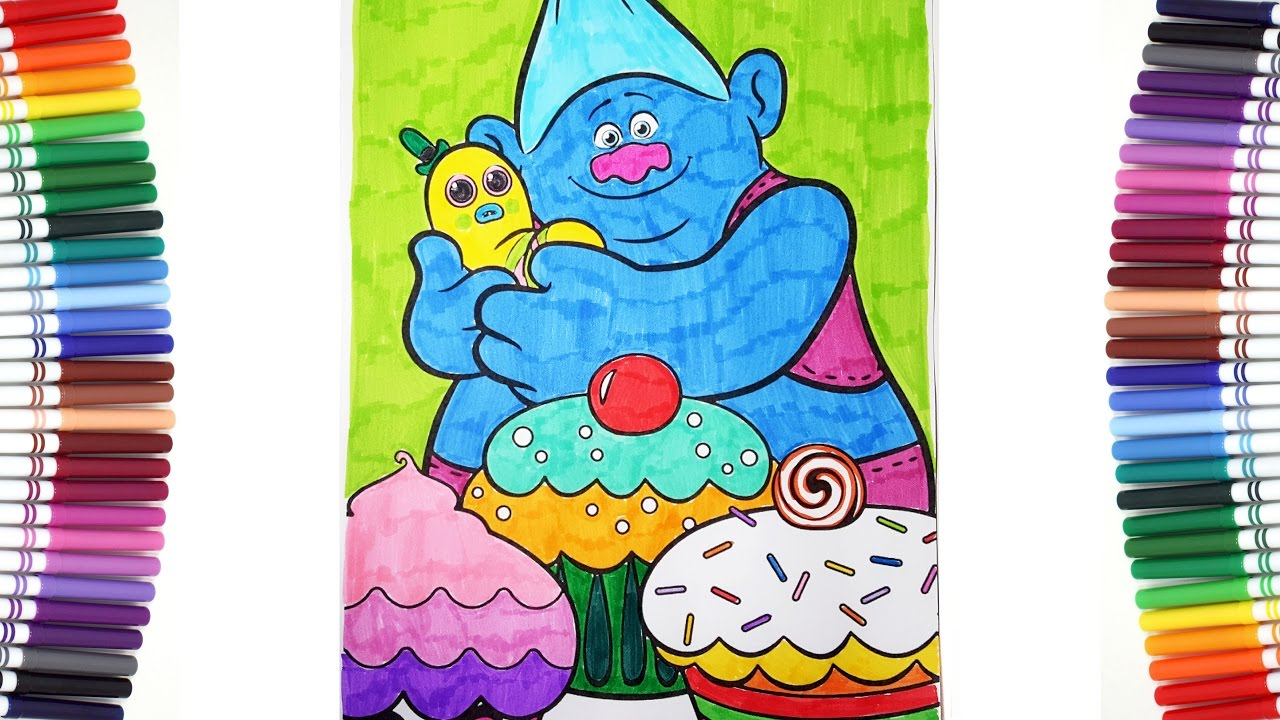 TROLLS MOVIE Biggie Friendly Troll And Mr Dinkles Coloring Pages