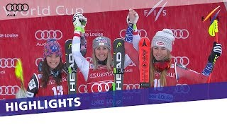 Highlights | Cornelia Huetter Pips Tina Weirather In Lake Louise 1st Downhill | Fis Alpine
