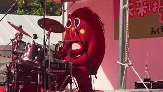 大和高田未来は元気フェスティバル2017初登場のにゃんごすたー 一曲目は...