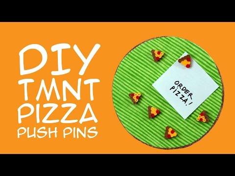 Teenage Mutant Ninja Turtles DIY Pizza Push Pins For TMNT Fans - A GeekyMcFangirl Tutorial