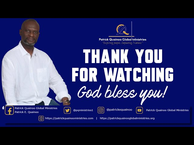 THE BENEFITS OF BEING A CHRISTIAN with Pastor Patrick