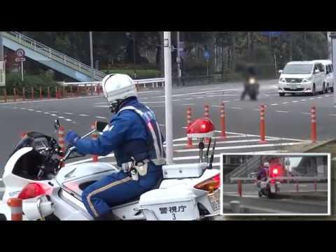 白バイに警告されたバイクライダーがそのまま違反して捕まった瞬間【再編集版】