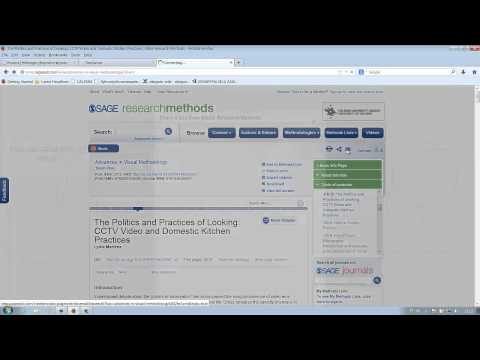 Reading and downloading an e-book – Sage Research Methods Online – Helsinki University Library