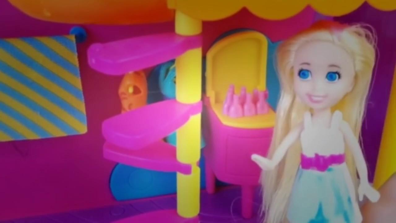 Download Polly pocket  Elsa visita la peluquera color mgico  Color change makeover