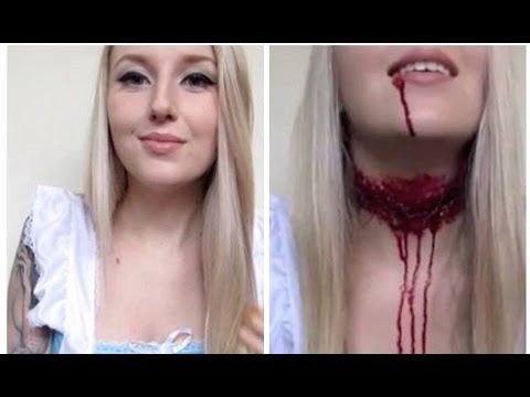Decapitated Alice In Wonderland Halloween Tutorial ♡ Off With Her ...
