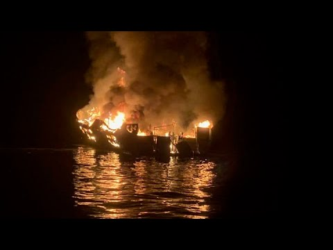 California boat fire leaves at least 25 dead