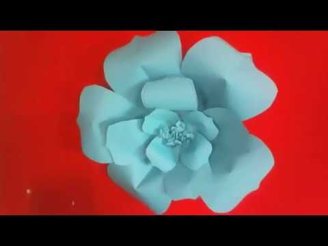 Flores De Papel Faciles Y Rapidas Youtube