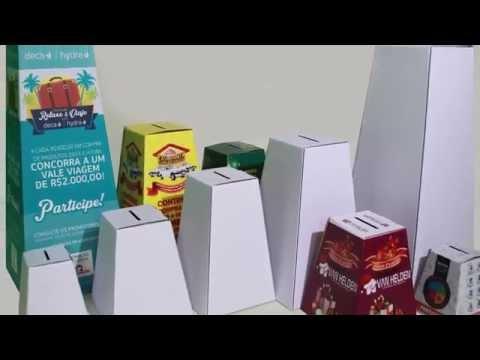 Urna Promocional de Papelão - Petink