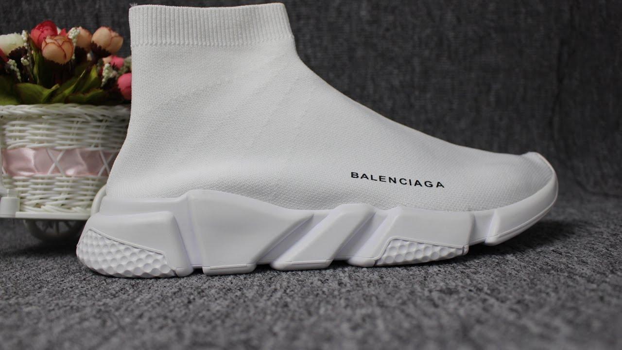 BALENCIAGA SPEED TRAINER SOCK RACE RUNNERS KINT WHITE ... | 1280 x 720 jpeg 111kB