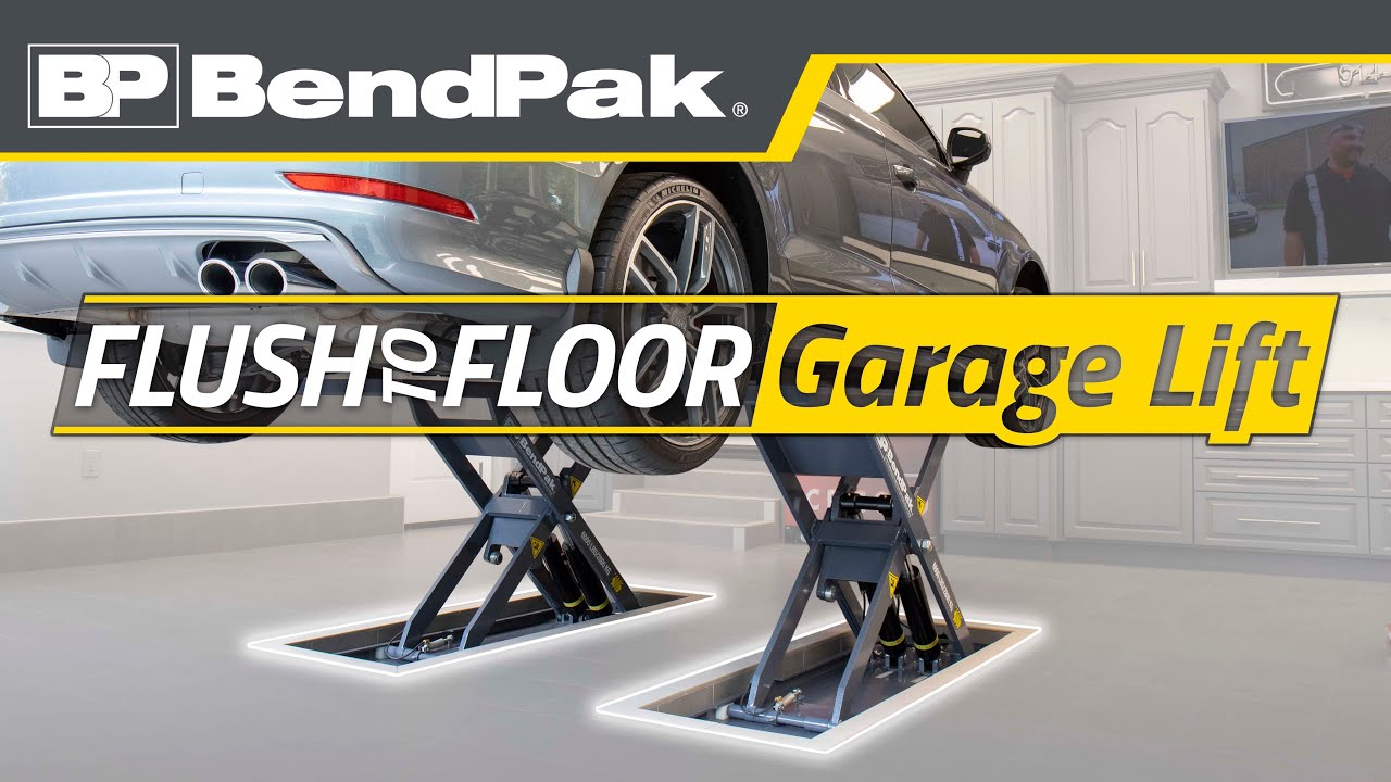 Slick Bendpak Car Lift In Home Garage Mds 6lpf Youtube
