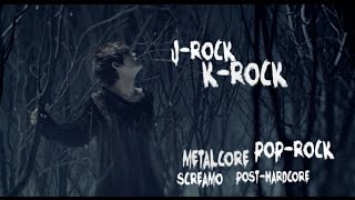J ROCK K ROCK VS POST HARDCORE METALCORE POP ROCK
