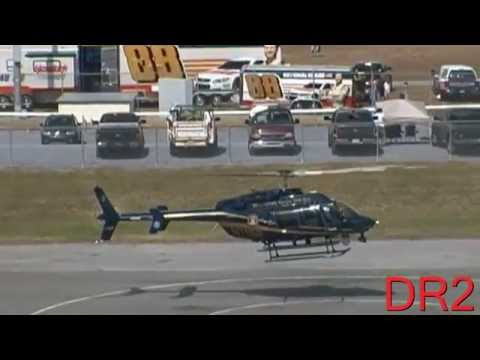 Delaware State Police Helicopter Landing At Dover International Speedway 9-28-14