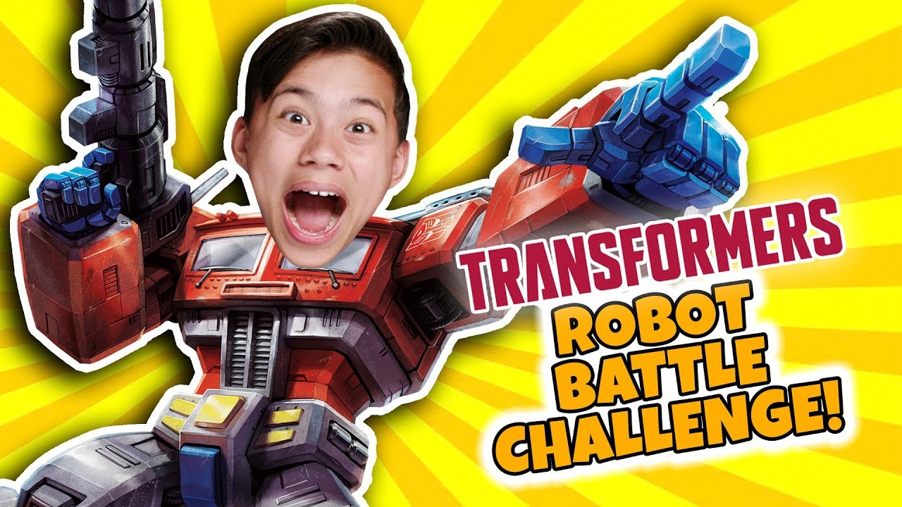 ROBOT BATTLE KIDS VS PARENTS!!! Transformers Trading Card Game!