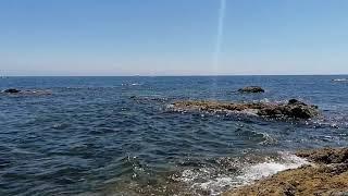 صوت البحر بدون موسيقى🌊 مع الأمواج الهادئة والمناظر الخلابة