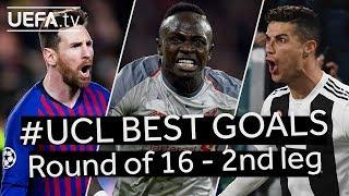 MESSI, MANÉ, RONALDO: #UCL BEST GOALS, Round of 16