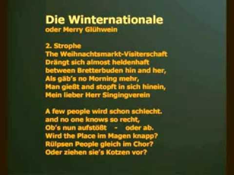 Lustige Weihnachtslieder Texte.Merry Gluhwein Die Winternationale Ein Weihnachtslied