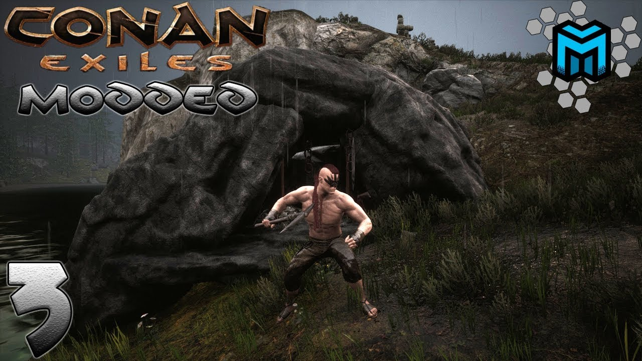 MODDED CONAN EXILES Gameplay/Let's Play | EP03 RESOURCE MINE AND MASTER  FURNACE