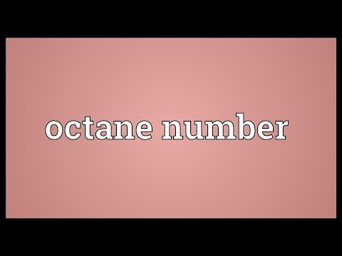 Octane number Meaning