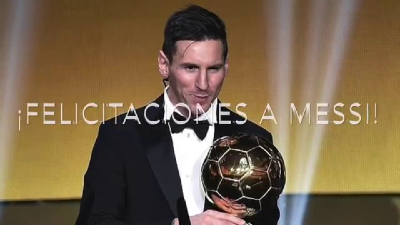 Messi Gana El Balón De Oro 2015 Messi Wins The 2015